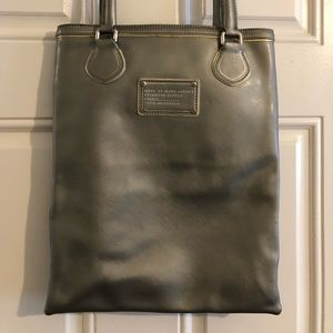 Marc by Marc Jacobs Silver Leather Work Tote